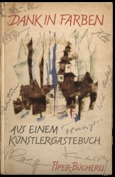 Dank in Farben (Thank You in Colours), illustrated guestbook of Alfred and Tekla Hess, 1957. Spread 0 recto